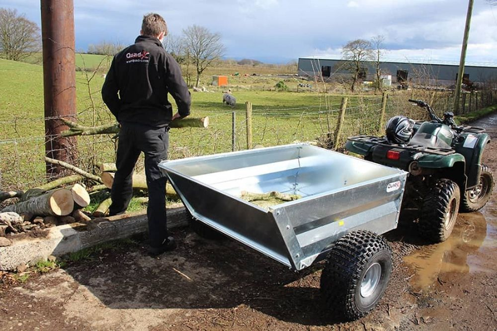 ATV Mechanical Tipping Trailer | Quad X Trailers